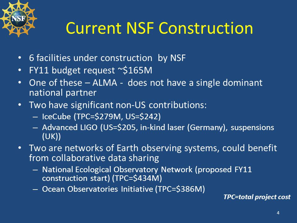 Current NSF Construction