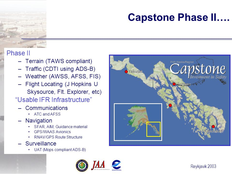 Capstone Phase II…. Phase II Usable IFR Infrastructure