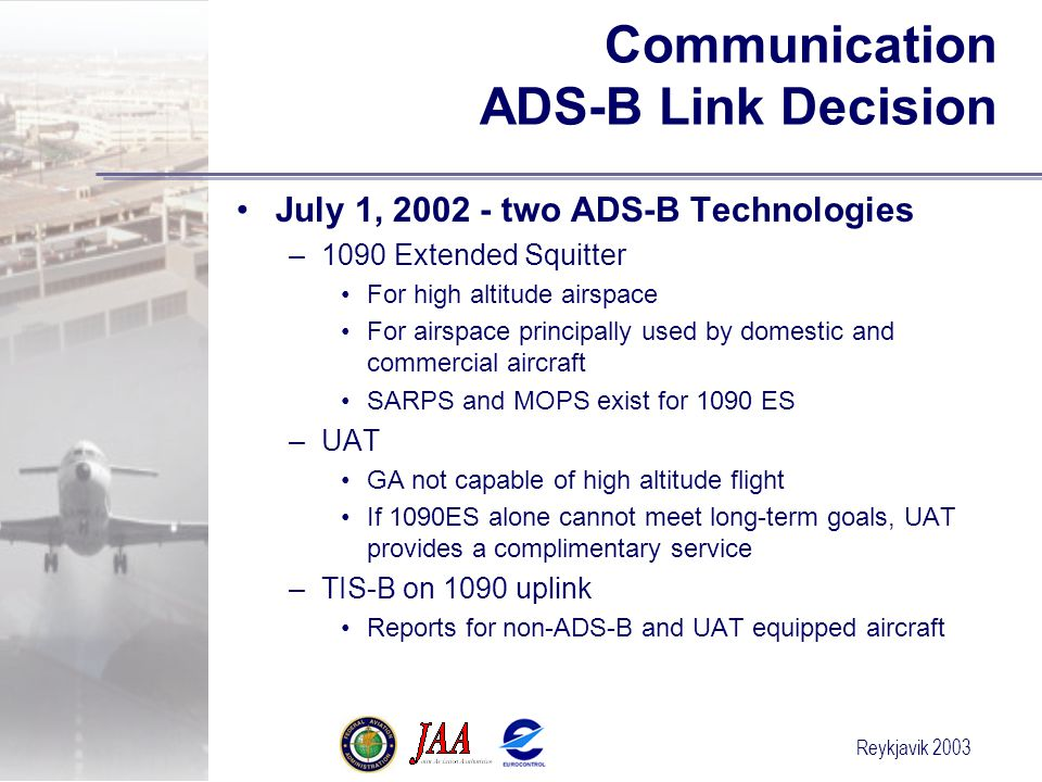 Communication ADS-B Link Decision