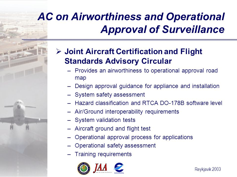 AC on Airworthiness and Operational Approval of Surveillance