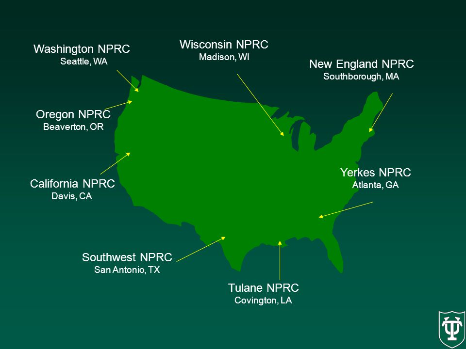 Wisconsin NPRC Washington NPRC New England NPRC Oregon NPRC