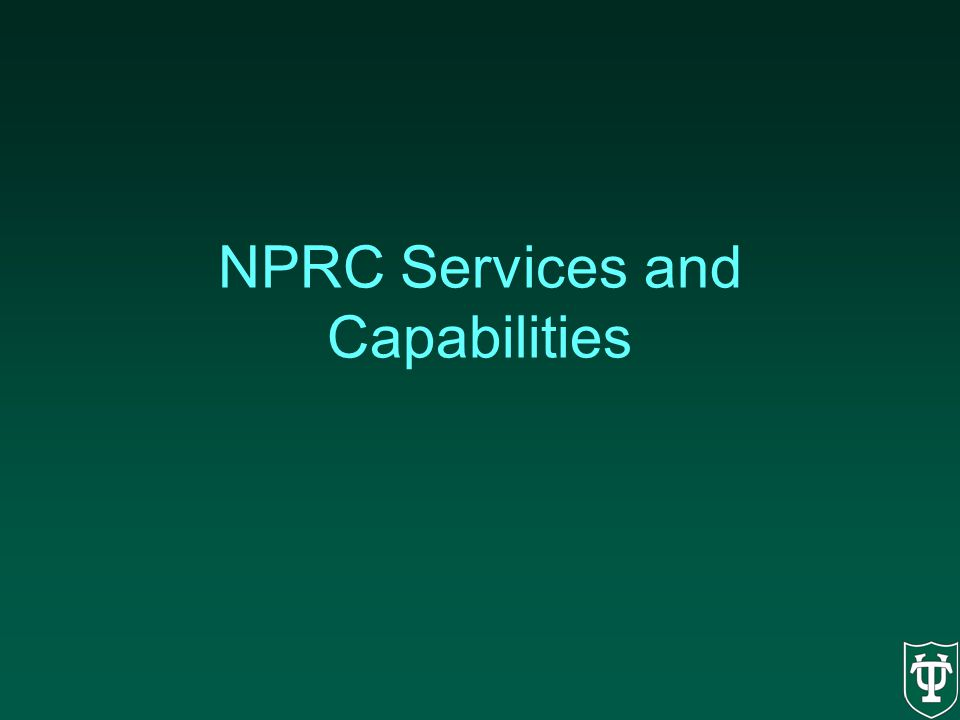 NPRC Services and Capabilities