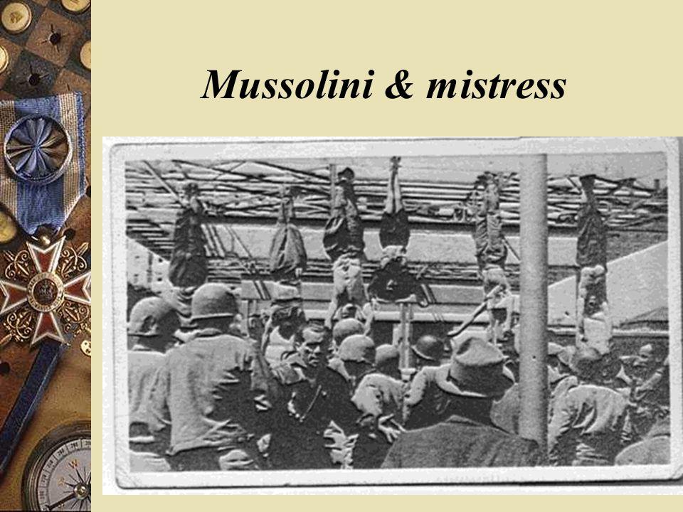 Mussolini & mistress