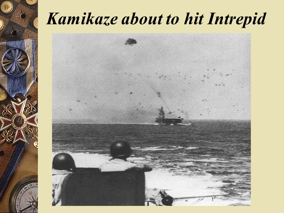 Kamikaze about to hit Intrepid