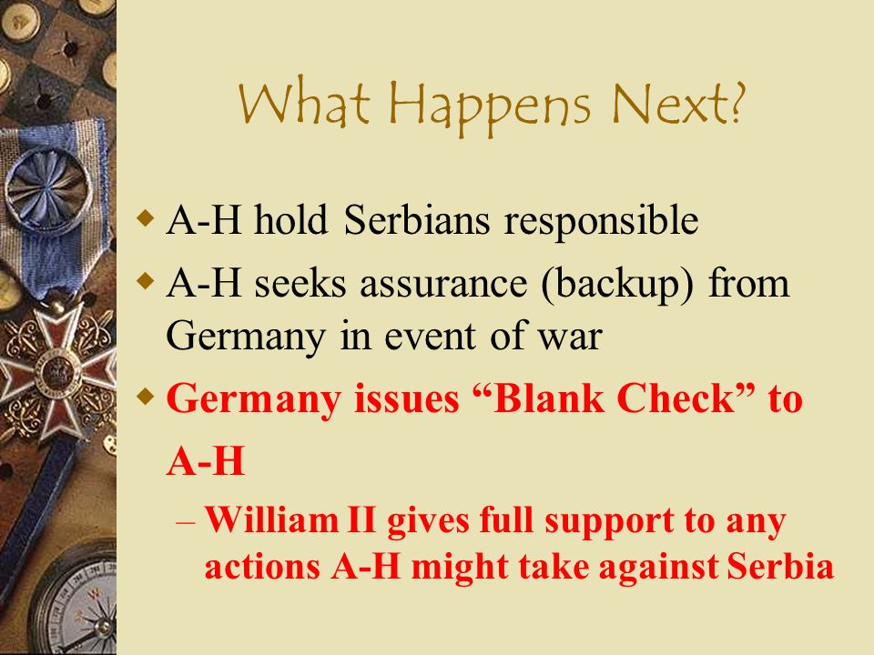 What Happens Next A-H hold Serbians responsible