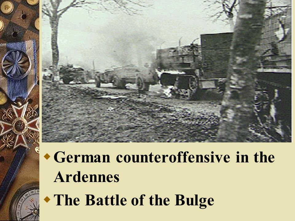 German counteroffensive in the Ardennes