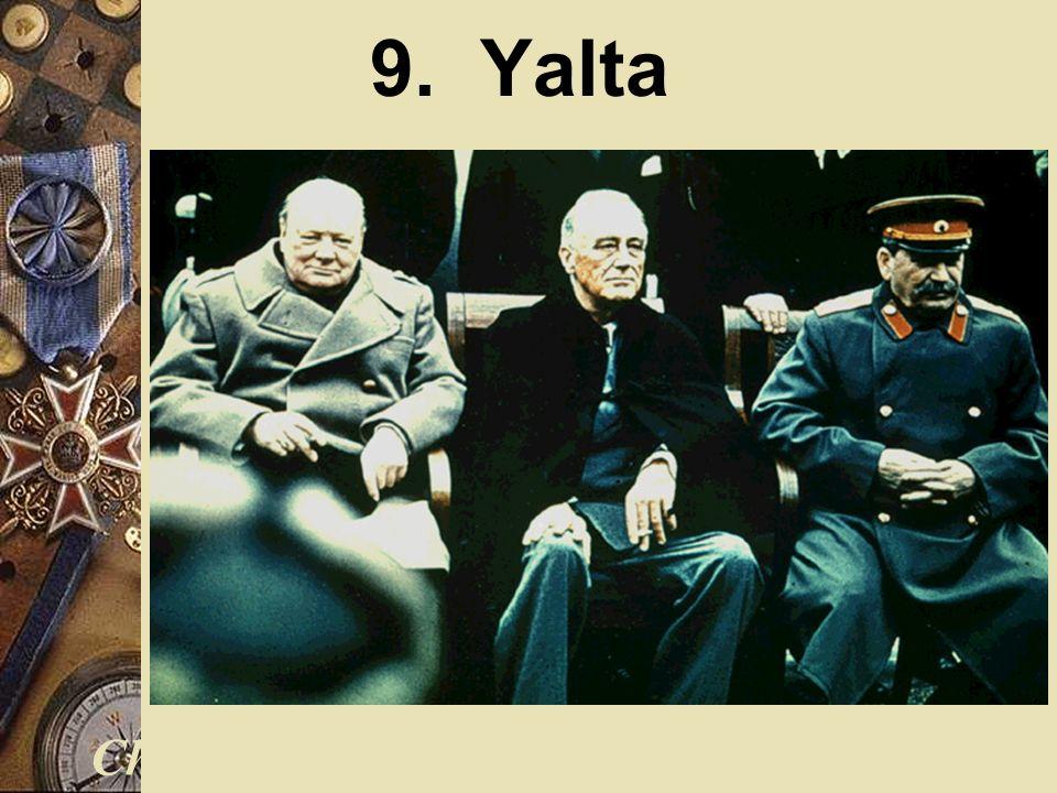 9. Yalta Churchill Roosevelt Stalin