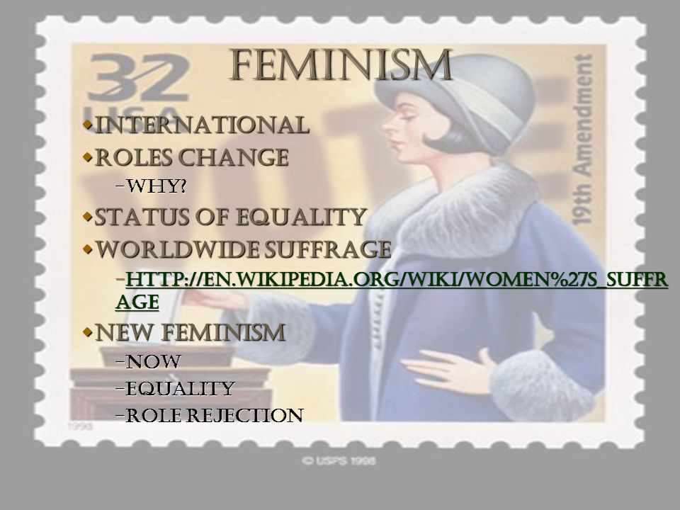 FEMINISM INTERNATIONAL ROLES CHANGE STATUS OF EQUALITY