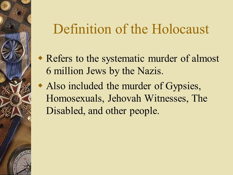 Definition of the Holocaust