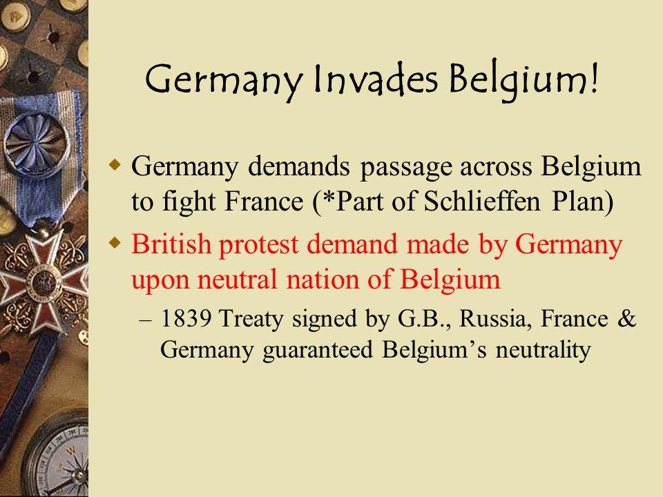 Germany Invades Belgium!