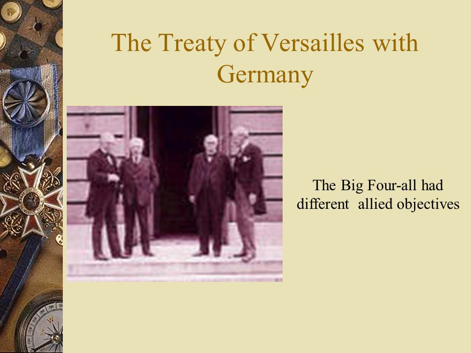 The Treaty of Versailles with Germany