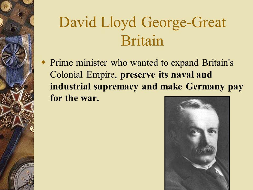 David Lloyd George-Great Britain