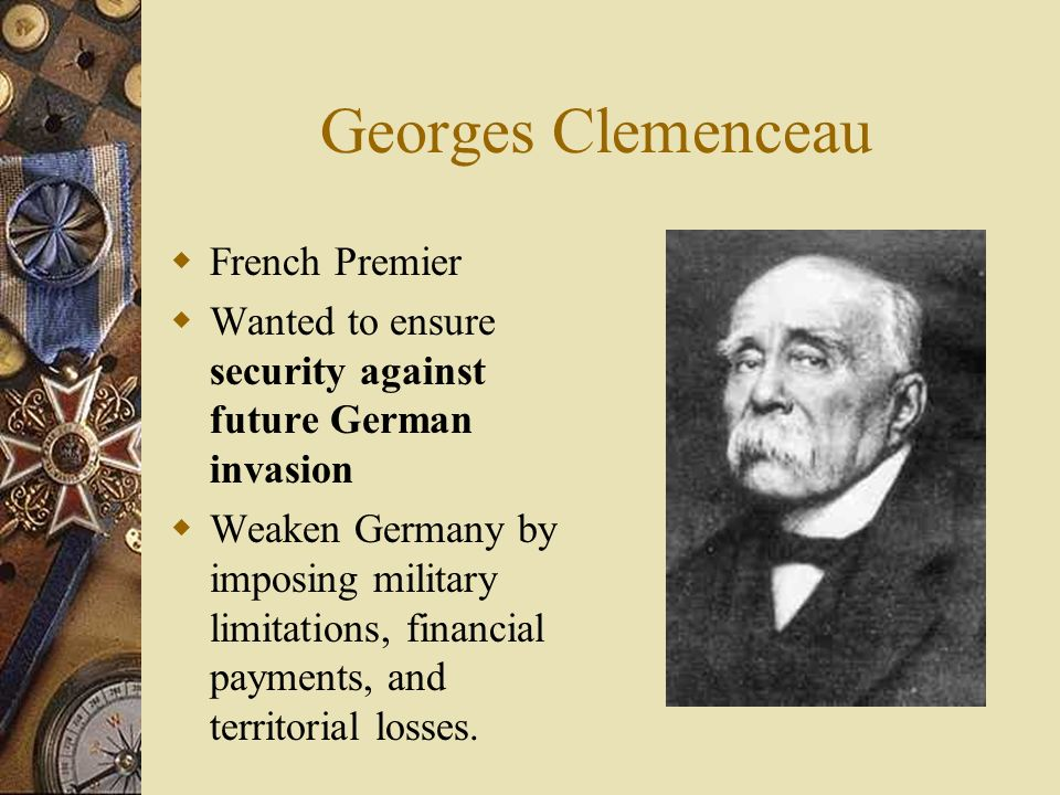 Georges Clemenceau French Premier
