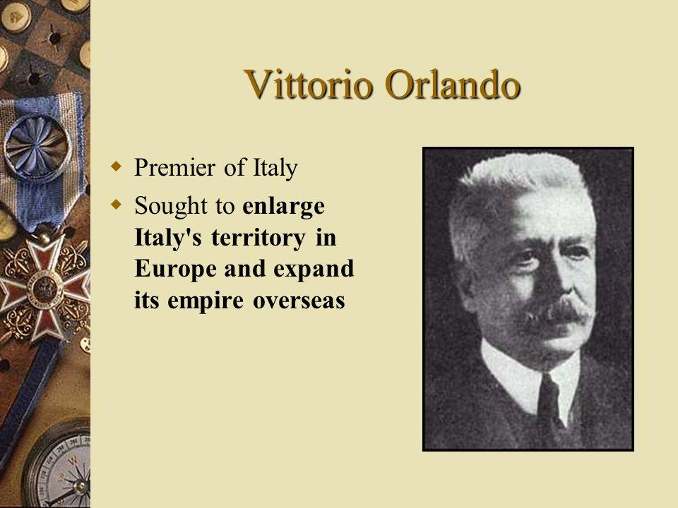 Vittorio Orlando Premier of Italy
