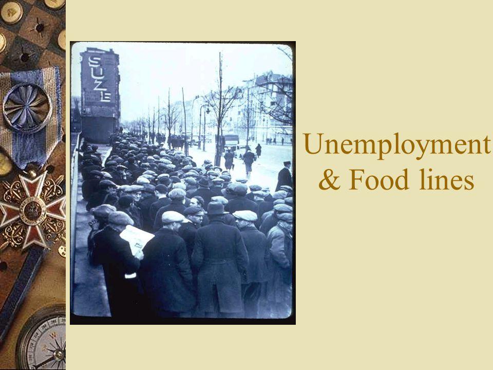 Unemployment& Food lines