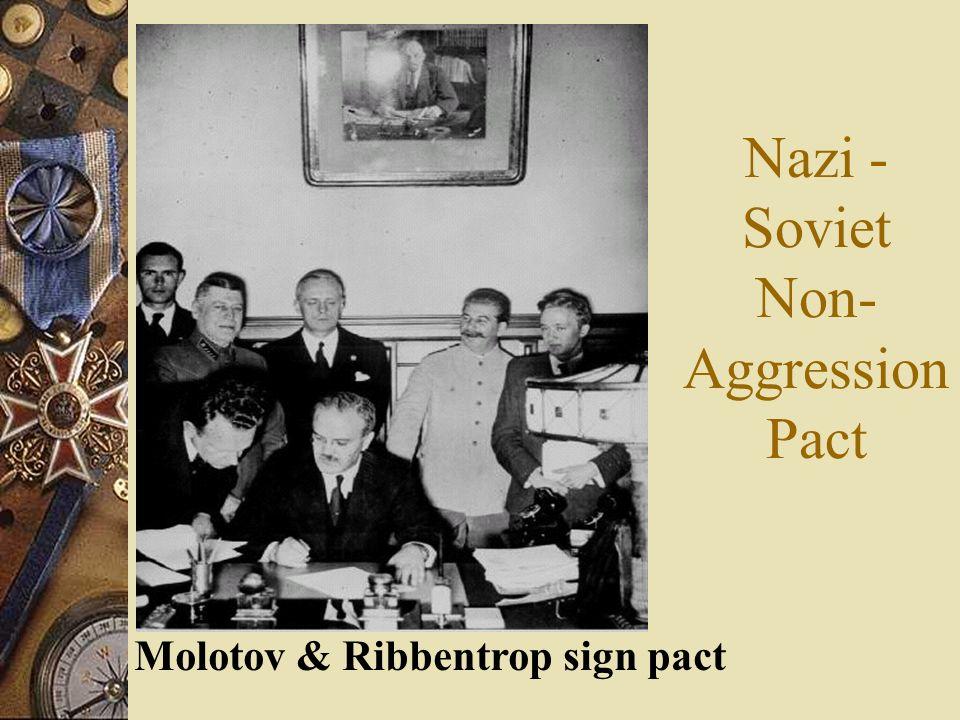 Nazi - Soviet Non-Aggression Pact
