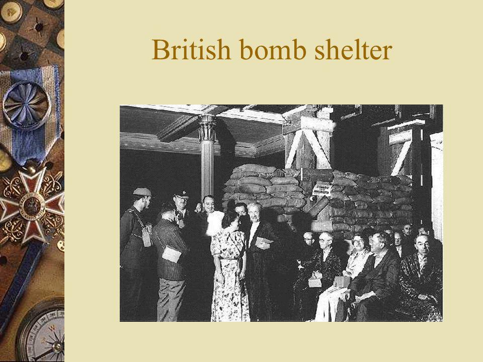 British bomb shelter