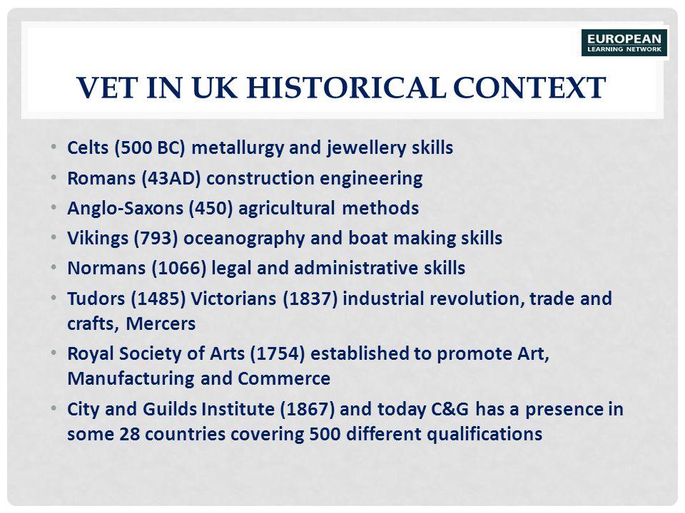 VET in UK Historical Context