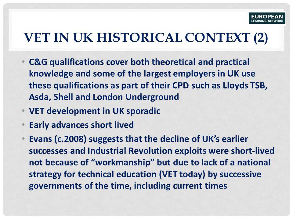 VET in UK Historical Context (2)