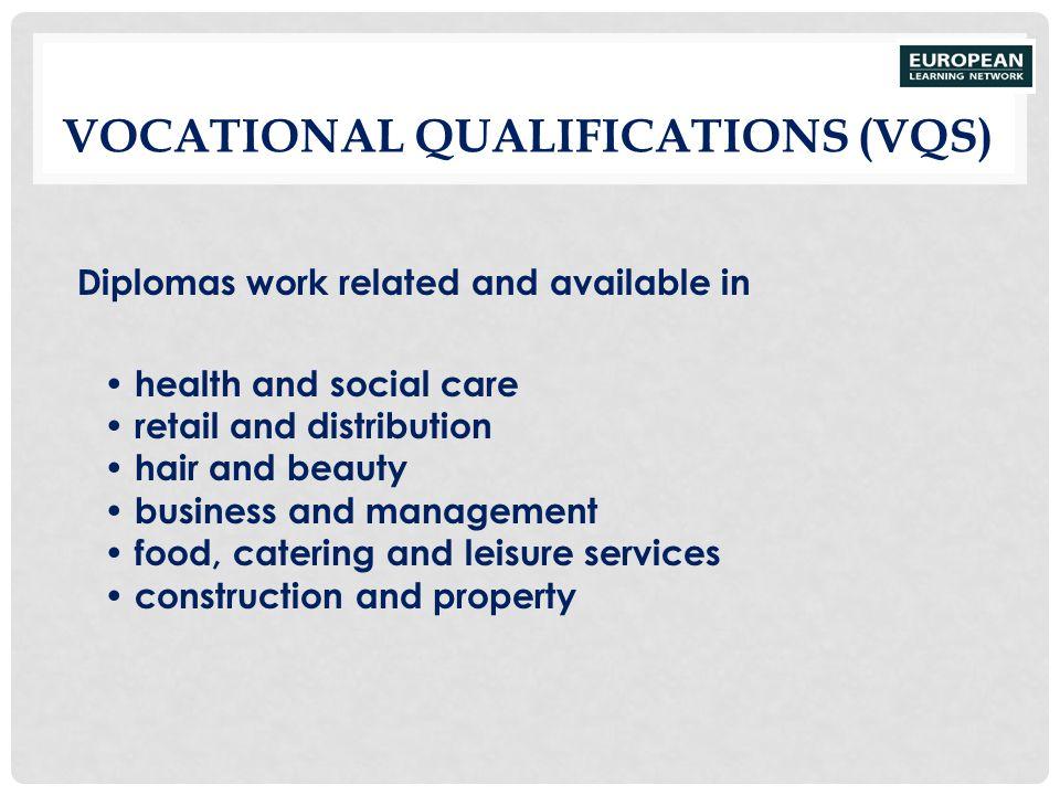 Vocational Qualifications (VQs)