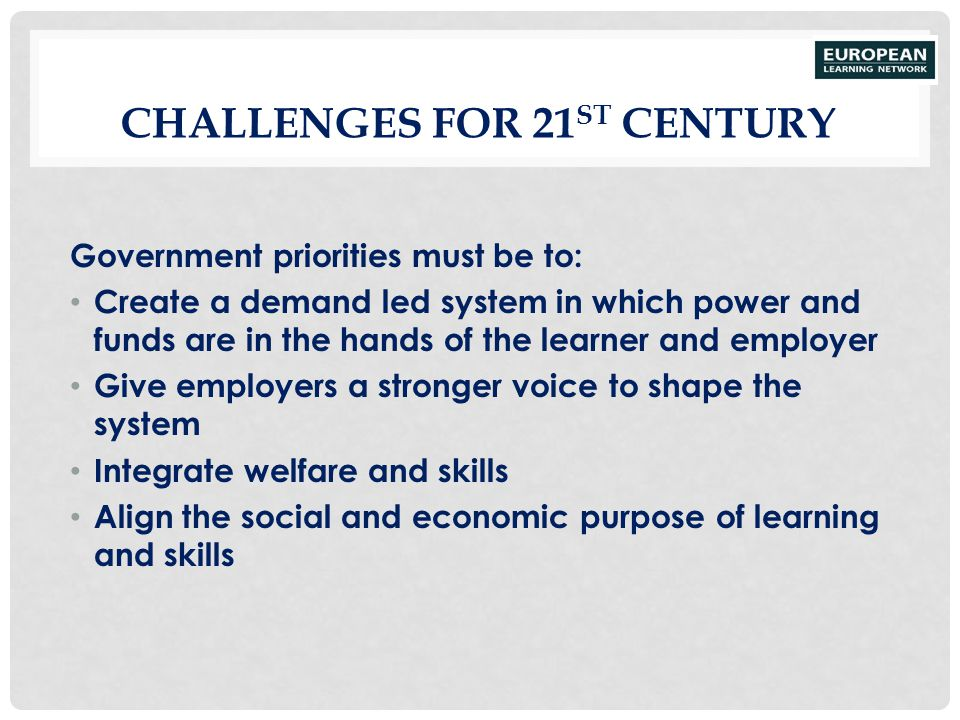 Challenges for 21st Century