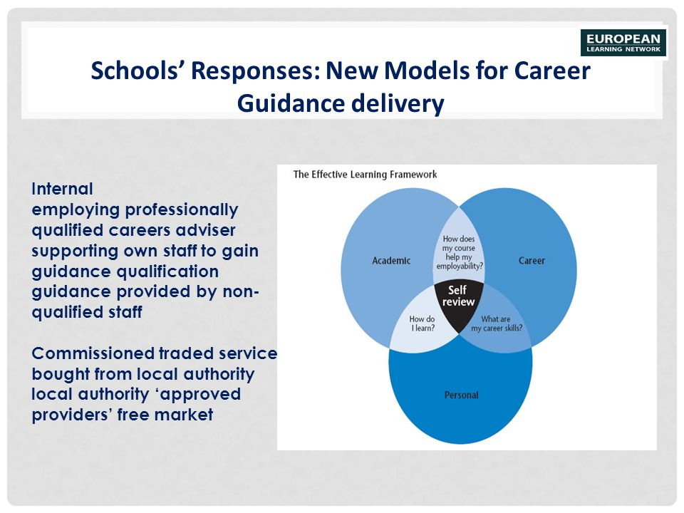 Schools' Responses: New Models for Career Guidance delivery