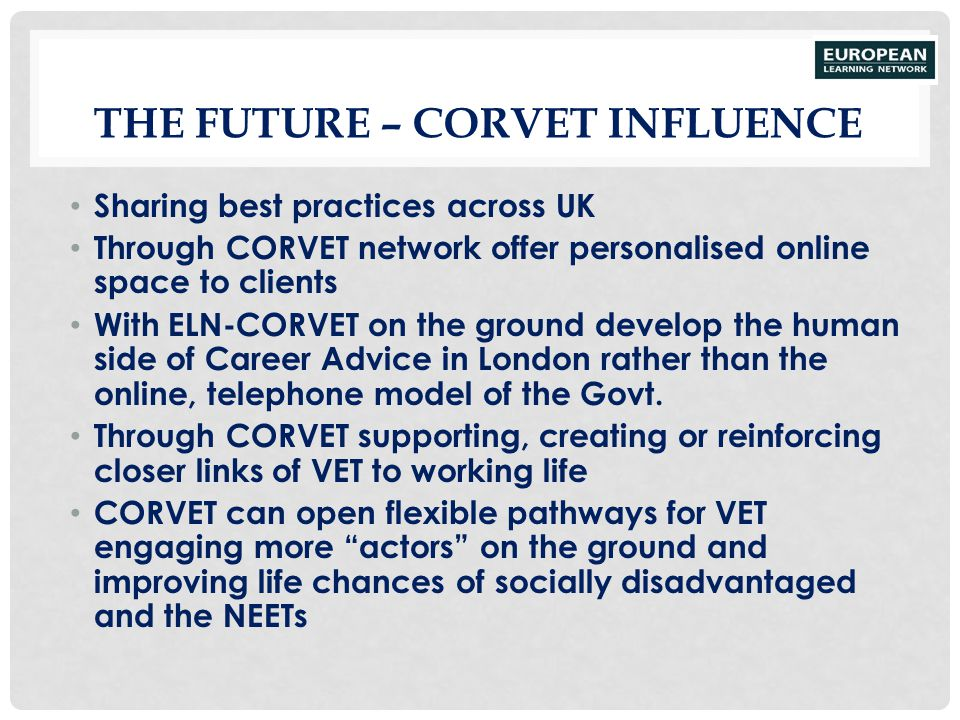 The Future – CORVET Influence