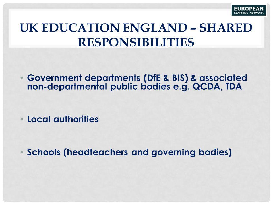 UK Education England – shared responsibilities