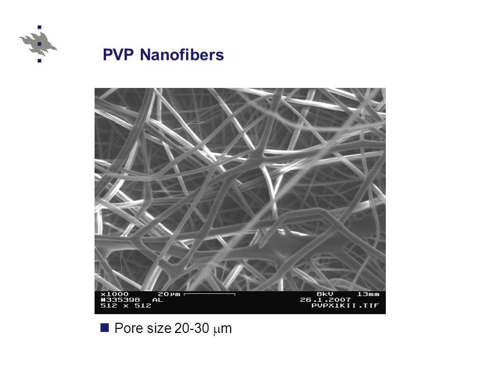 PVP Nanofibers Pore size 20-30 mm