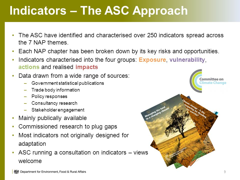 Indicators – The ASC Approach