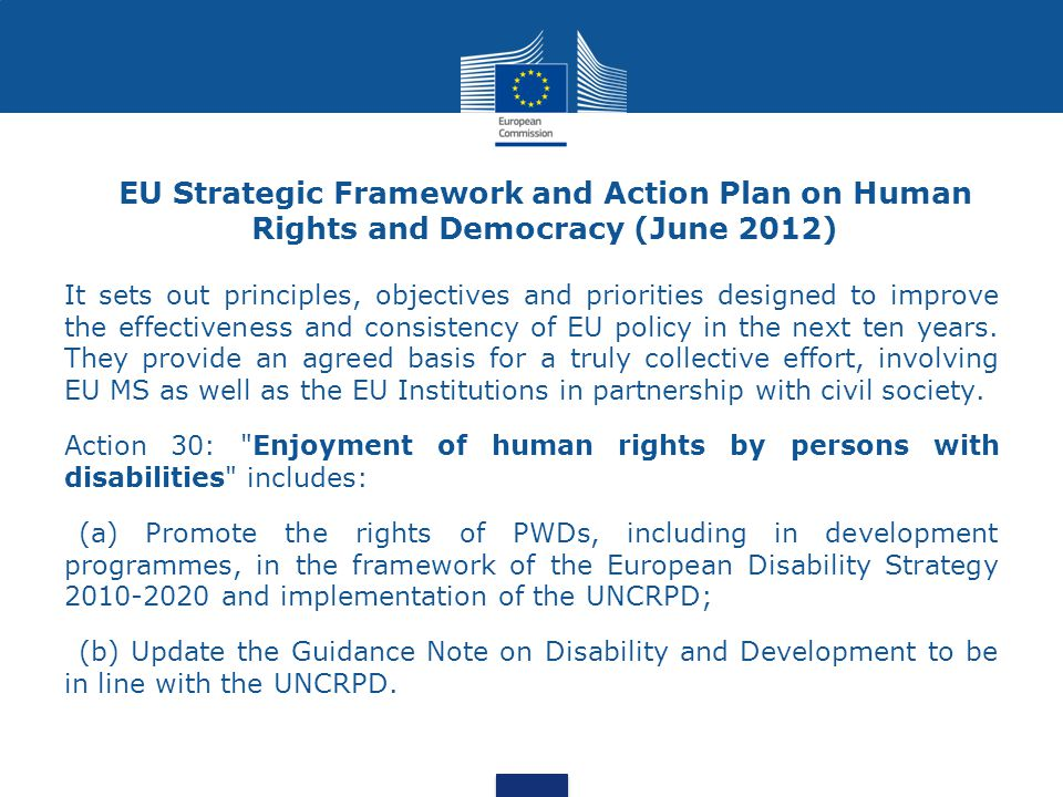 EU Strategic Framework and Action Plan on Human Rights and Democracy (June 2012)