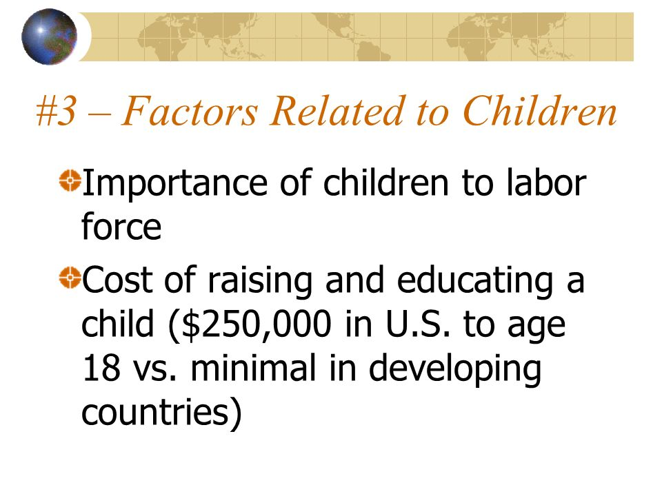 #3 – Factors Related to Children