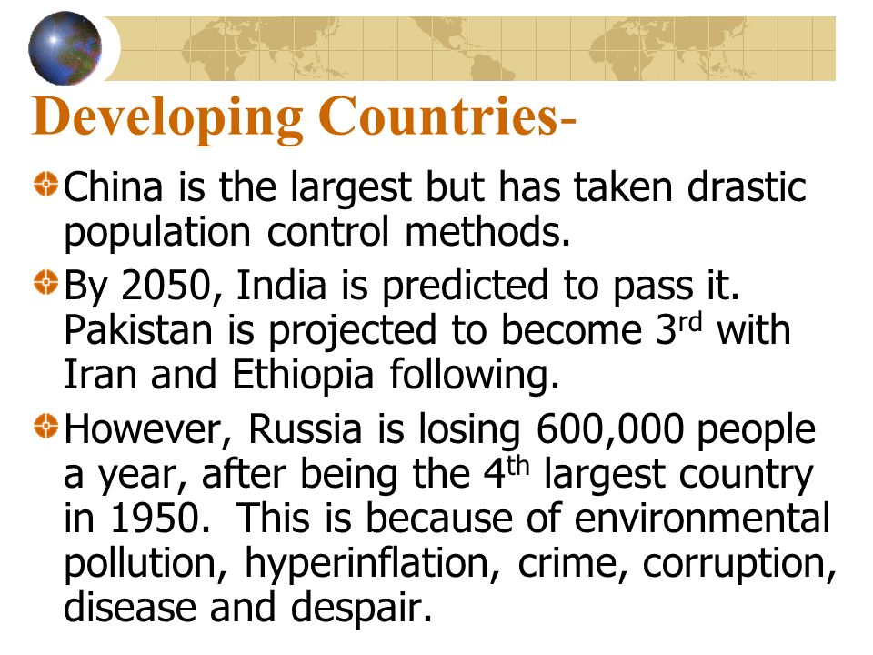 Developing Countries-