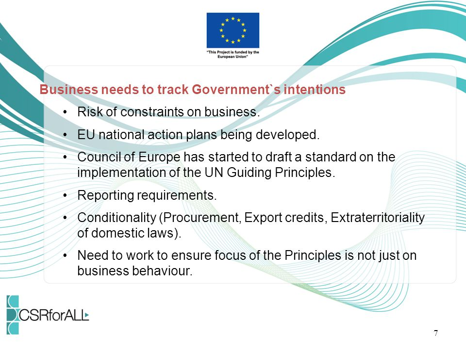 Business needs to track Government`s intentions
