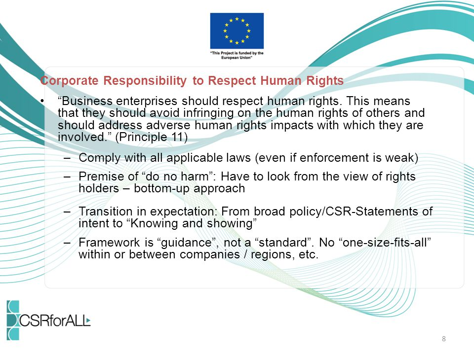 Corporate Responsibility to Respect Human Rights