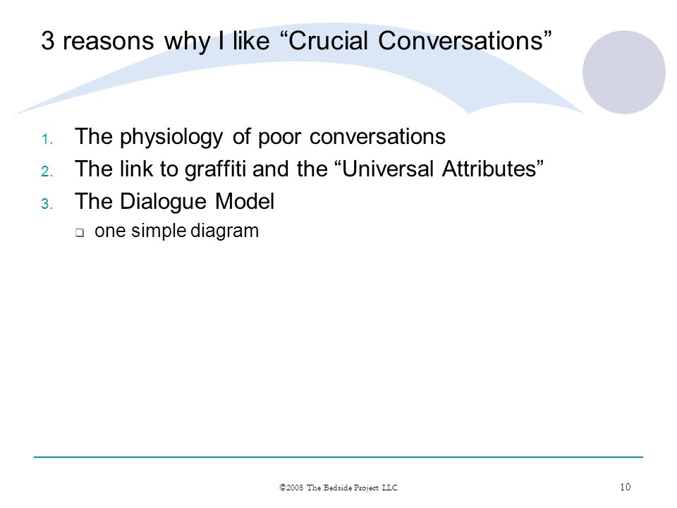 3 reasons why I like Crucial Conversations