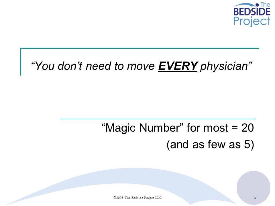 You don't need to move EVERY physician