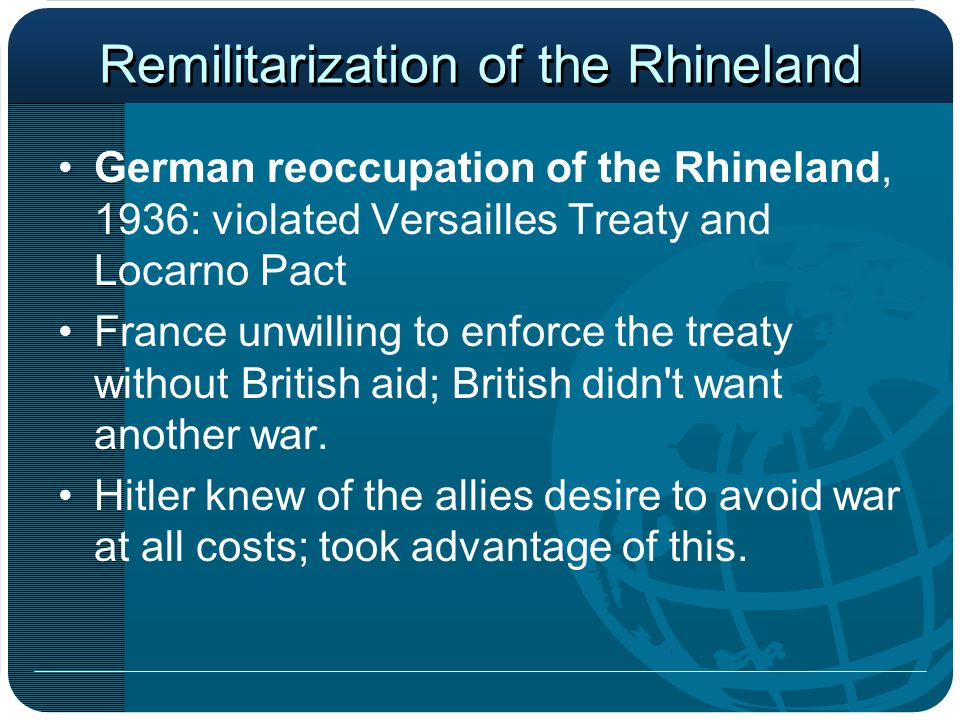 Remilitarization of Rhineland