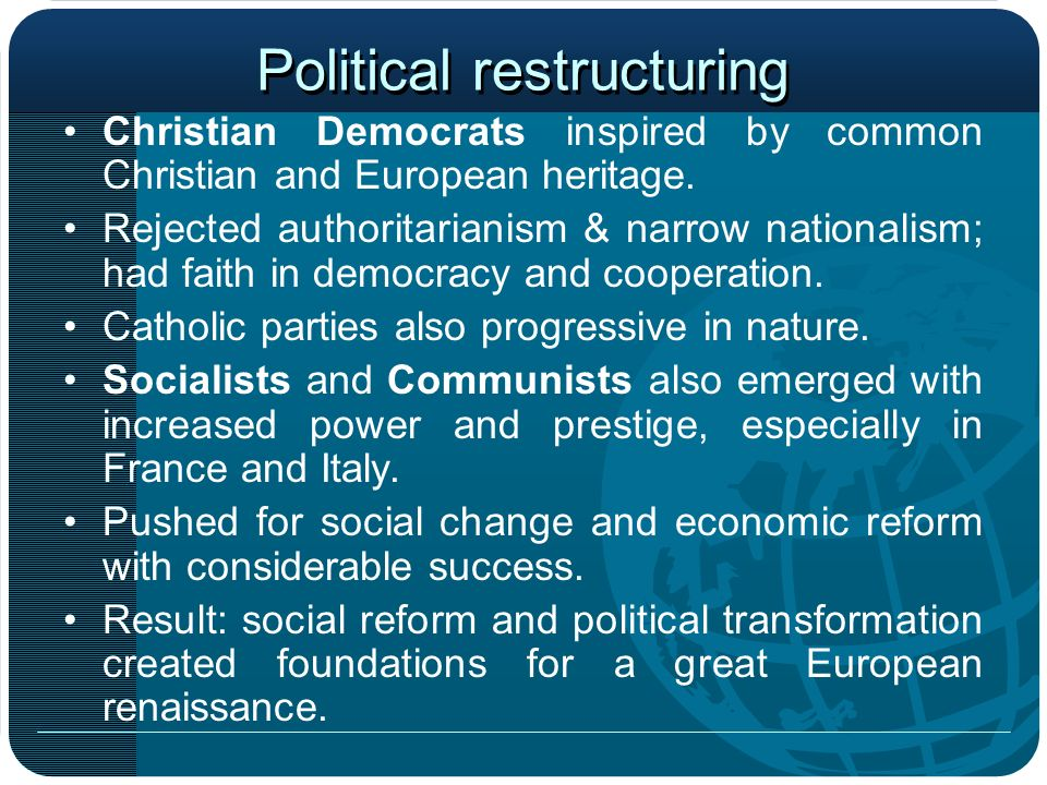 Political restructuring
