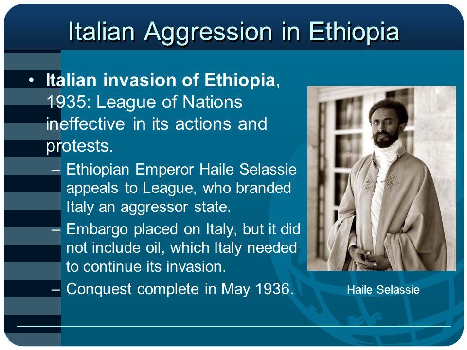Italian Aggression in Ethiopia