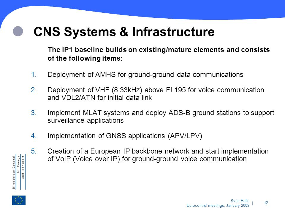 CNS Systems & Infrastructure