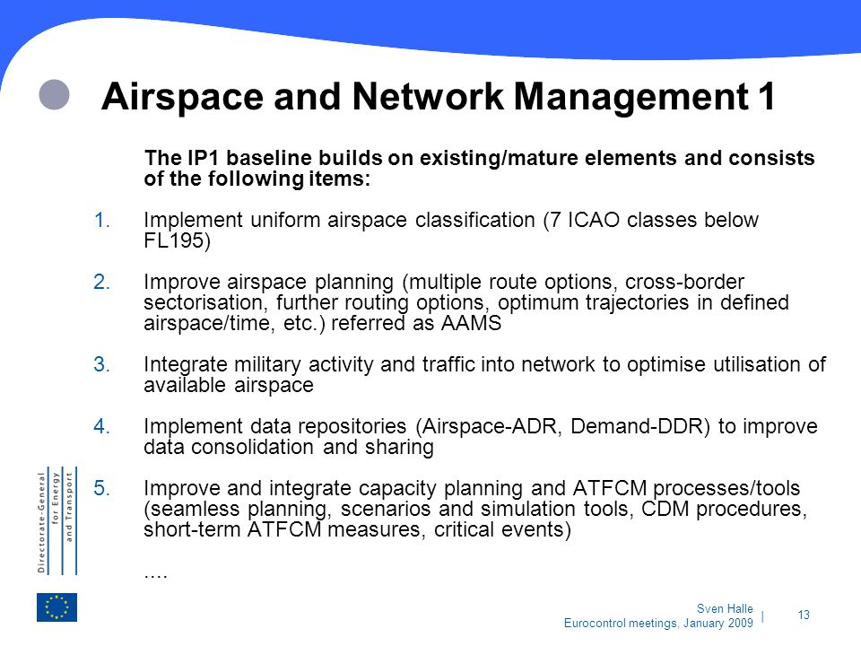 Airspace and Network Management 1