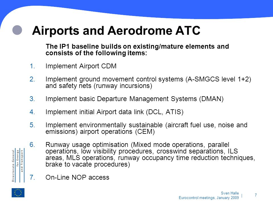 Airports and Aerodrome ATC