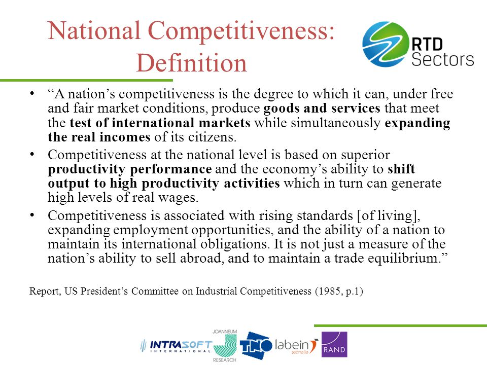 National Competitiveness: Definition