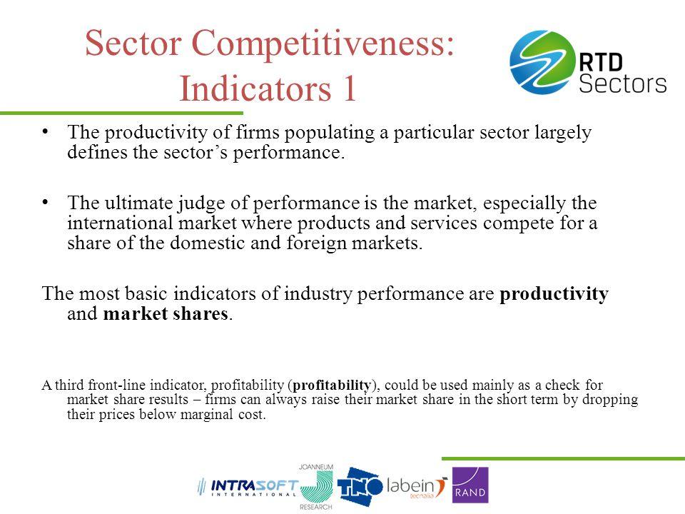 Sector Competitiveness: Indicators 1