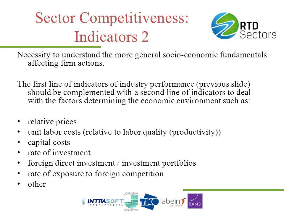 Sector Competitiveness: Indicators 2