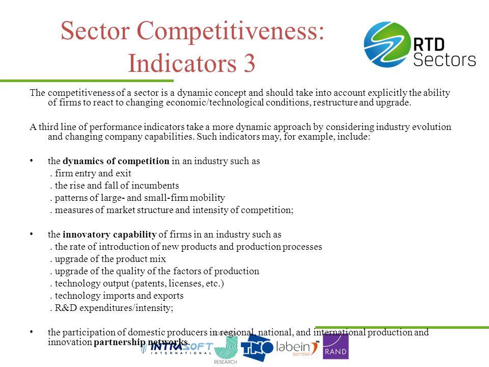 Sector Competitiveness: Indicators 3