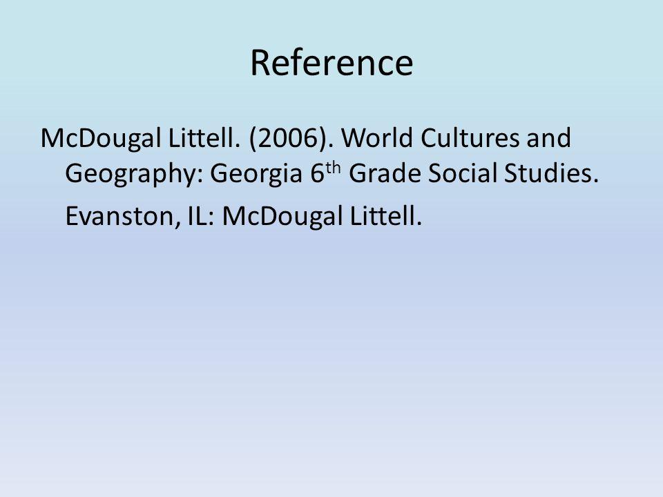 Reference McDougal Littell. (2006).