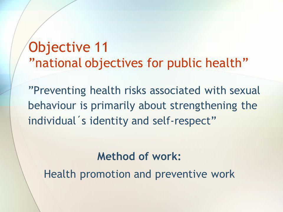 Objective 11 national objectives for public health