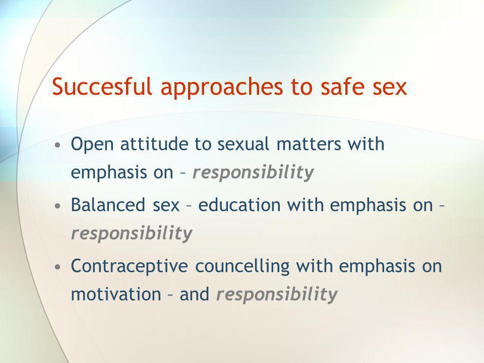 Succesful approaches to safe sex